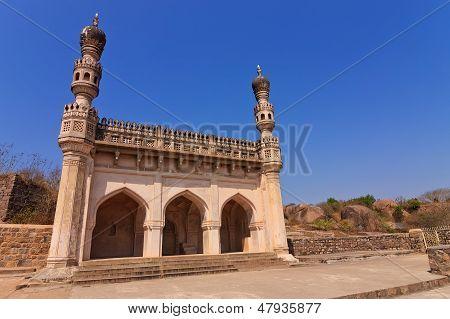 masjid at Golkonda Fort Hyderabad India