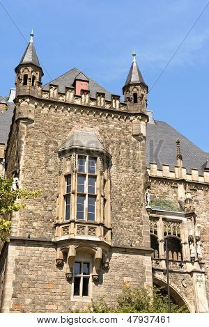 Detail Of Aachen Town Hall, Germany