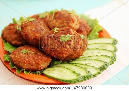 Cutlets With Cucumber