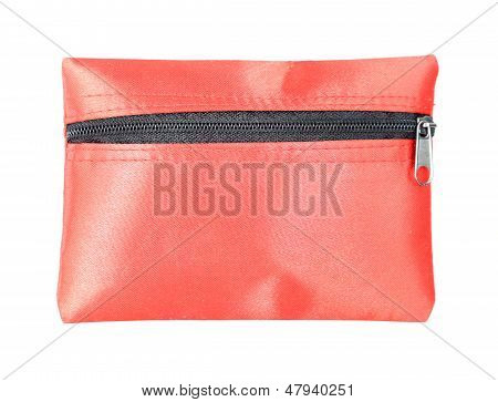 Red Coins Purse With Zip