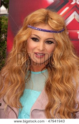 """LOS ANGELES - JUL 11:  Paulina Rubio at the """"X-Factor"""" Season 3 Photo Call at the Galen Center on July 11, 2013 in Los Angeles, CA"""