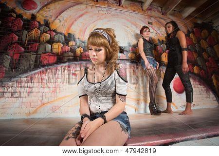 Ashamed Woman Sitting Alone