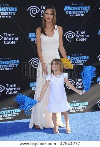 LOS ANGELES - JUN 17:  Alessandra Ambrosio & Anja arrives to the '