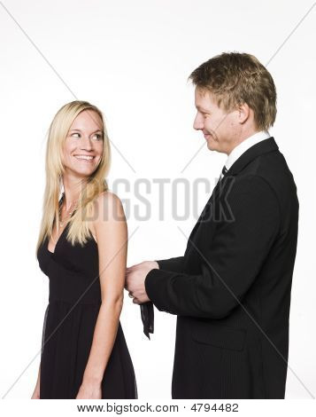 Man Helping Woman
