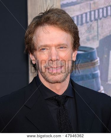 LOS ANGELES - JUN 22:  Jerry Bruckheimer arrives to the 'The Lone Ranger' Hollywood Premiere  on June 22, 2013 in Hollywood, CA