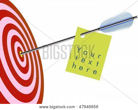 Arrow in to target with a label