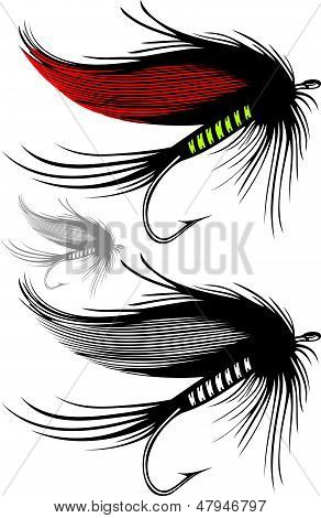 Vector illustration of fishing fly