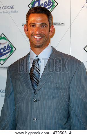 NEW YORK-JULY 14: Former New York Yankees catcher Jorge Posada attends the Aces, Inc. All Star party at Marquee on July 14, 2013 in New York City.