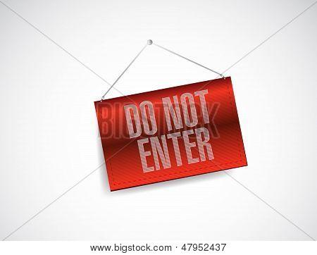Do Not Enter Hanging Banner Illustration