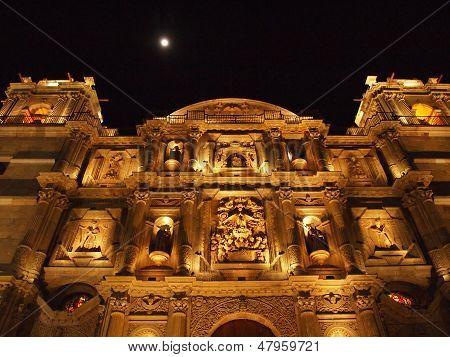 Mexican church facade