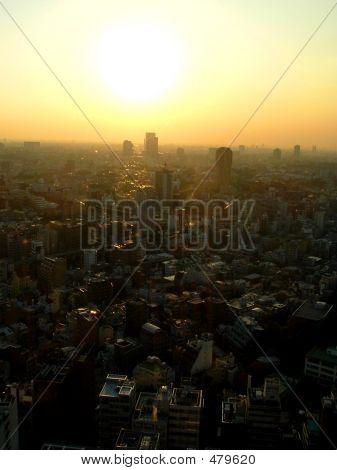 Puesta de sol de Tokio