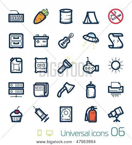 Universal icons set Perfect lines 06