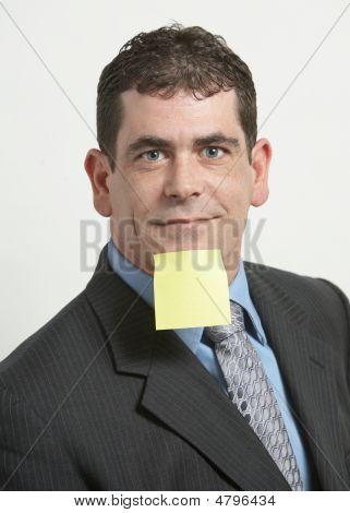 Businessman With Yellow Note