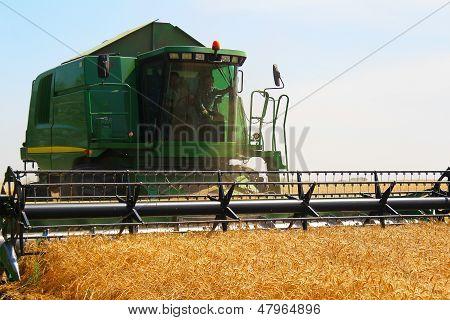 Harvester For Harvesting Wheat, Ukraine