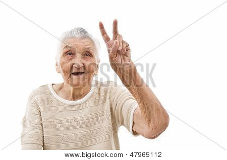 Grandma Shows Peace