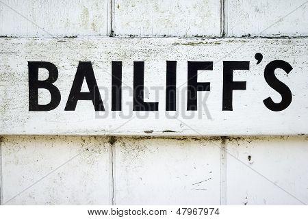 Bailiff's