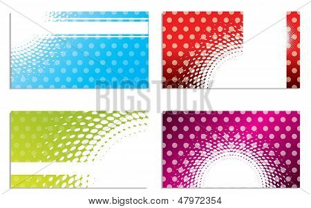 Cool Dots And Halftones Business Card Set