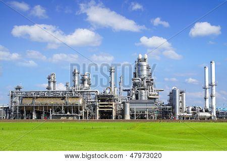 Refinery plant at Europort harbor Rotterdam.