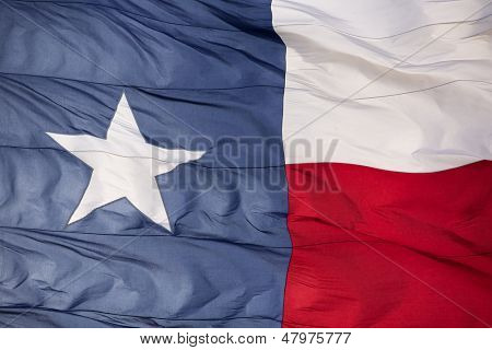 Rippled Flag of the State of Texas Backlit