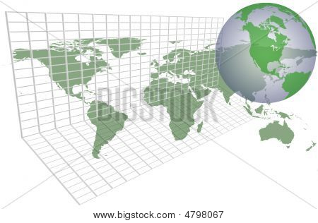 Global Earth Map Grid