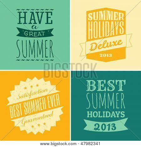 Typographic Summer Design