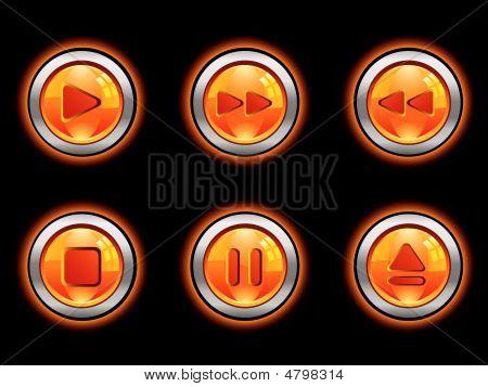 Media Button Set