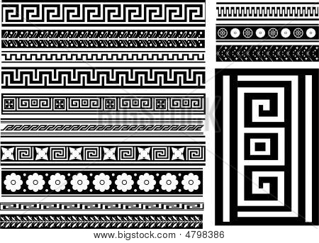Different Types Of Seamless Greek Patterns