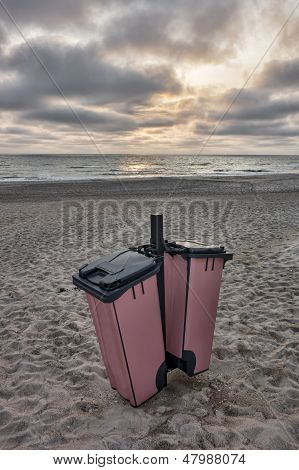 Litter Boxes On The Beach