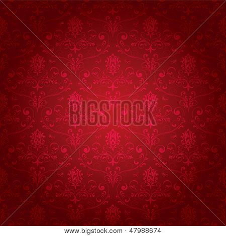 Red seamless ornate pattern