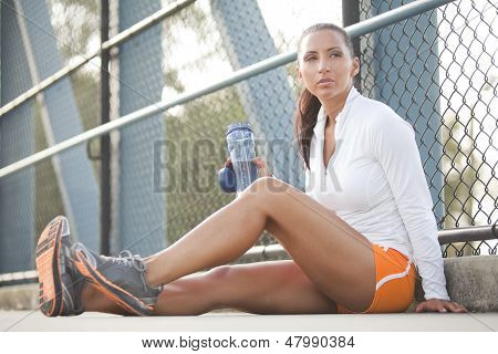 Female Athlete Resting