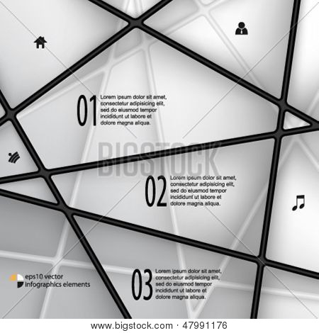 eps10 vector line elements infographics background
