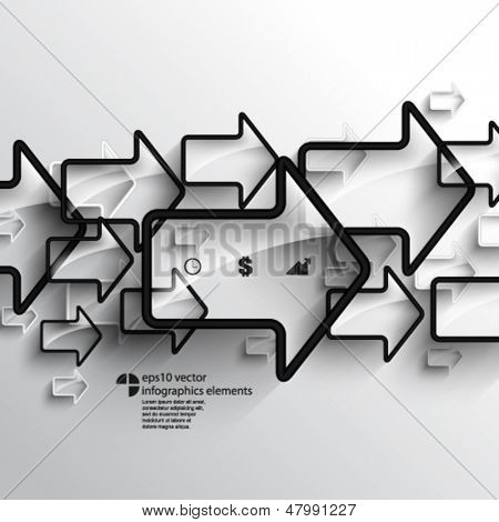 eps10 vector overlapping arrow elements infographics background