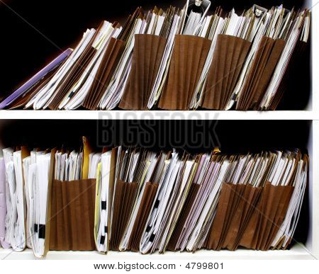 Files On Shelf