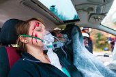 stock photo of oxygen mask  - Accident  - JPG