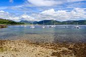 stock photo of bute  - Port Bannatyne on the Isle of Bute Scotland UK - JPG