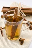 picture of naturopathy  - Cinnamon Herbal Tea in a glass cup - JPG