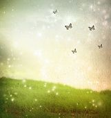 picture of hilltop  - Butterflies in a fantasy landscape  - JPG