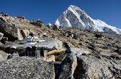 Постер, плакат: Нога Кала каменные горы 5164 М Непал Эверест Регион