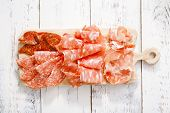 picture of antipasto  - Platter of serrano jamon Cured Meat - JPG