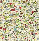 foto of occasion  - XXL Doodle Icons Set No - JPG