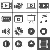 picture of tv sets  - Video and cinema icon set - JPG