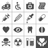 foto of ambulance  - Medical and health icon set - JPG
