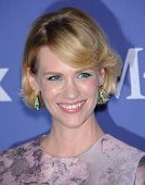 LOS ANGELES - JUN 12:  January Jones arrives to the Women In Film's 2013 Crystal + Lucy Awards  on J
