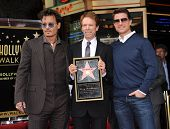 LOS ANGELES - JUN 23:  Johnny Depp, Jerry Bruckheimer &Tom Cruise arrives to the Walk of Fame Honors