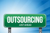 Outsourcing weg teken illustratie Design