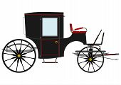 foto of stagecoach  - Silhouette of an old black horse - JPG