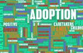 stock photo of child development  - Adoption of Child or Pet as a Concept - JPG