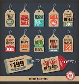 stock photo of cut  - Unique Sale Tags - JPG