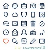 stock photo of glass heart  - Universal icons set Perfect lines 01 - JPG
