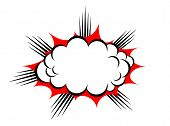 image of explosion  - Vector explosion cloud isolated on white background - JPG
